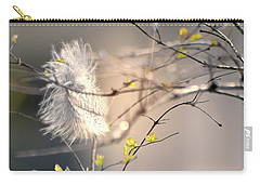 Captured Small Feather_03 Carry-all Pouch by Vlad Baciu