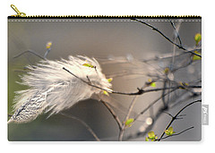 Captured Small Feather_04 Carry-all Pouch by Vlad Baciu