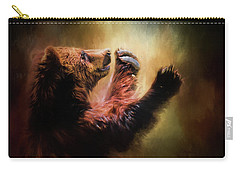 Capturing The Sun Bear Art Carry-all Pouch by Jai Johnson