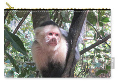 Capuchin Monkey 4 Carry-all Pouch by Randall Weidner