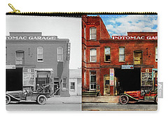 Car - Garage - Misfit Garage 1922 - Side By Side Carry-all Pouch by Mike Savad
