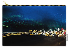 Car Light Trails At Dusk In City Carry-all Pouch