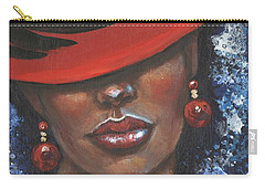 Carry-all Pouch featuring the painting Carbaret Red by Alga Washington