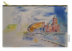 Cardiff Memoir In Watercolor Carry-all Pouch by Geeta Biswas