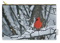 Cardinal And Snow Carry-all Pouch