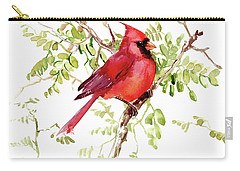 Cardinal Bird Carry-all Pouch