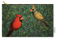 Cardinal Couple Carry-all Pouch by James W Johnson
