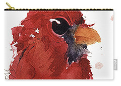 Carry-all Pouch featuring the painting Cardinal by Dawn Derman