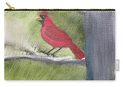 Cardinal In My Pine Tree Carry-all Pouch