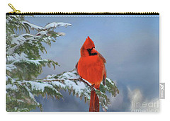 Cardinal In Winter II Carry-all Pouch