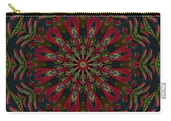 Cardinal Kaleidoscope Carry-all Pouch by Judy Wolinsky