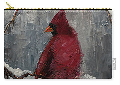 Cardinal North Carolina State Bird In Snow Carry-all Pouch
