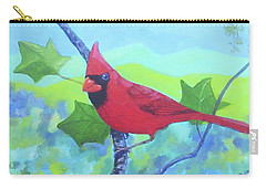 Cardinal On A Branch Carry-all Pouch