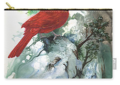 Carry-all Pouch featuring the painting Cardinal by Sherry Shipley