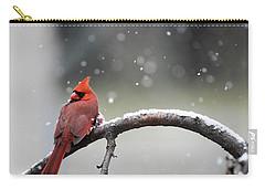 Cardinal Snowfall Carry-all Pouch