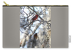 Cardinals In Mossy Tree Carry-all Pouch