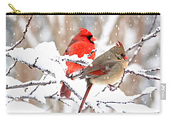 Cardinals In The Winter Carry-all Pouch