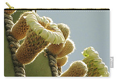 Carry-all Pouch featuring the photograph Cardon Cactus Flowers by Marilyn Smith