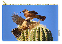 Carry-all Pouch featuring the photograph Careful Landing by Marilyn Smith