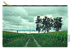 Carry-all Pouch featuring the photograph Caressing The Corn Path by Cyryn Fyrcyd