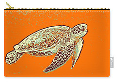 Carry-all Pouch featuring the painting Caretta Caretta Sea Turtle by Asar Studios