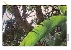 Carry-all Pouch featuring the photograph Caribbean Banana Leaf by Ian  MacDonald