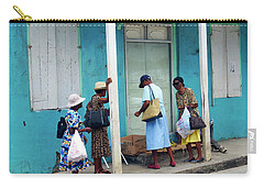 Carry-all Pouch featuring the photograph Caribbean Blue, Speightstown, Barbados by Kurt Van Wagner