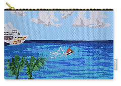 Caribbean Jet Ski Carry-all Pouch by Margaret Brooks