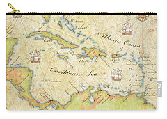 Caribbean Map - Good Carry-all Pouch