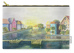 Carry-all Pouch featuring the painting Caribbean Morning  by Marlene Book