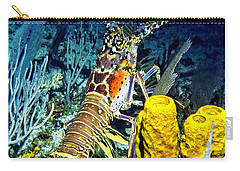 Carry-all Pouch featuring the photograph Caribbean Reef Lobster by Amy McDaniel