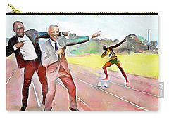 Caribbean Scenes - Obama And Bolt In Jamaica Carry-all Pouch