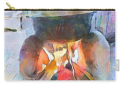 Caribbean Scenes - Fireside / Chulha Carry-all Pouch