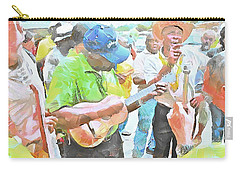 Carry-all Pouch featuring the painting Caribbean Scenes - Parang Musicians by Wayne Pascall