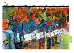 Caribbean Scenes - Steel Band Practice Carry-all Pouch by Wayne Pascall