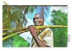 Carry-all Pouch featuring the painting Caribbean Scenes - Sugarcane Meal by Wayne Pascall
