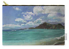 Carry-all Pouch featuring the pastel Caribbean Sea Day Antigua by Robin Maria Pedrero