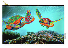 Caribbean Sea Turtles Carry-all Pouch