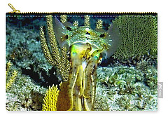 Carry-all Pouch featuring the photograph Caribbean Squid At Night - Alien Of The Deep by Amy McDaniel
