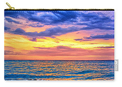 Caribbean Sunset Carry-all Pouch by Dominic Piperata