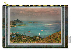 Carry-all Pouch featuring the digital art Caribbean Symphony by Hanny Heim