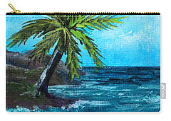 Carry-all Pouch featuring the painting Caribbean Vacation #1 by Anastasiya Malakhova