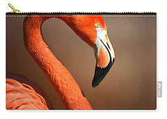 Caribean Flamingo Portrait Carry-all Pouch