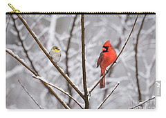 Goldfinch And Cardinal Carry-all Pouch