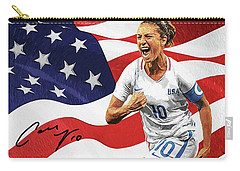 Carry-all Pouch featuring the digital art Carli Lloyd by Taylan Apukovska