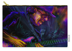 Carry-all Pouch featuring the painting Carlos Santana by DC Langer