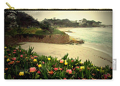 Carmel Beach And Iceplant Carry-all Pouch