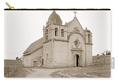 Carmel Mission South Side Circa 1915 Carry-all Pouch by California Views Mr Pat Hathaway Archives