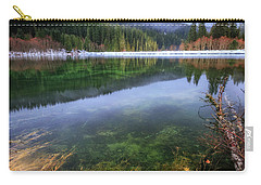 Carry-all Pouch featuring the photograph Carmen Reservoir by Cat Connor