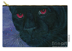 Carry-all Pouch featuring the painting Carmilla - Black Panther Vampire by Carrie Hawks